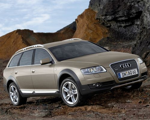 click to free download the wallpaper--Top Car Images, Brown Audi A6 Allroad Among Tall Hills, Nice and Incredible Look