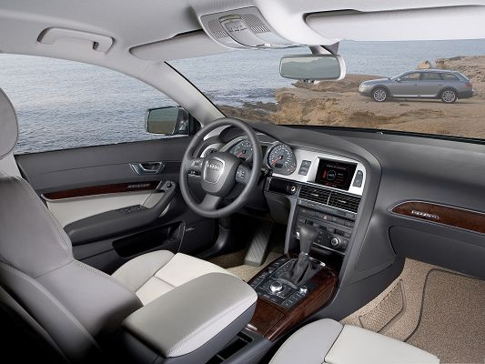 click to free download the wallpaper--Top Car Pictures, Audi A6 Interior, Super Look and Feel