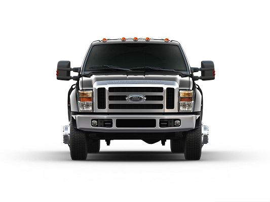 click to free download the wallpaper--Top Car Pictures, Ford F 450 Super Duty Car on White Background, Great Look