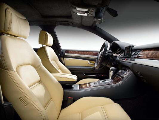 click to free download the wallpaper--Top Car as Wallpaper, Audi A8 Interior, You Know It is Super Car