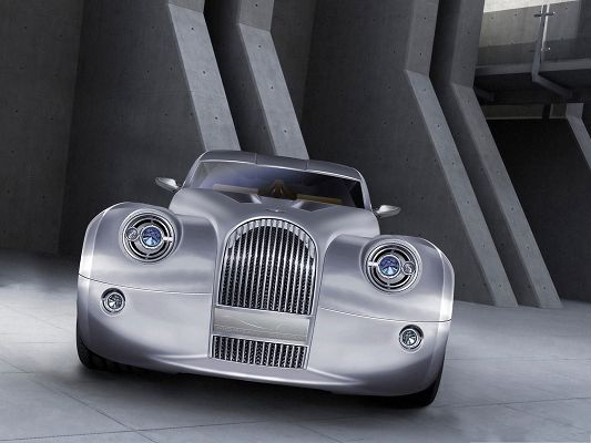 click to free download the wallpaper--Top Car as Wallpaper, Morgan Concept Car on Flat Road, Amazing Look