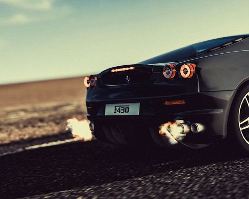 click to free download the wallpaper--Top Cars Image, Ferrari F430 Activated, Can Expect Great Speed and Super Engine