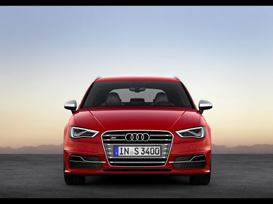 Top Cars Image of Audi S3, from Front Static, Every Detail is Made with Perfection