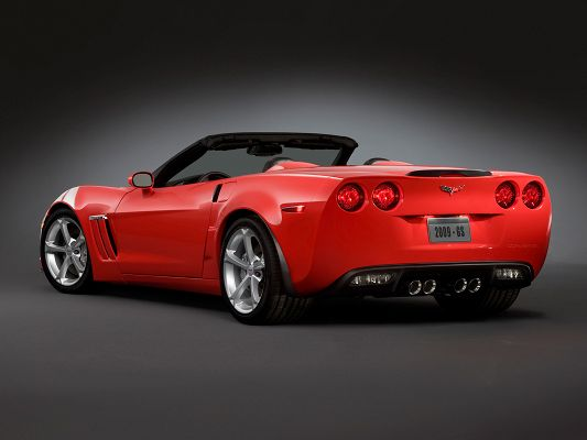 click to free download the wallpaper--Top Cars Post, Corvette in Rear Angle, on Spotlight, Shall Grab Lots of Attention