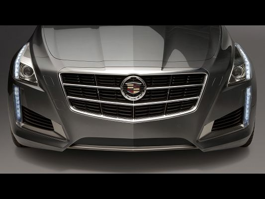 Top Cars Post of Cadillac CTS, Front Section Shown, Unique Mark and Sharp Eyes, Looking Great