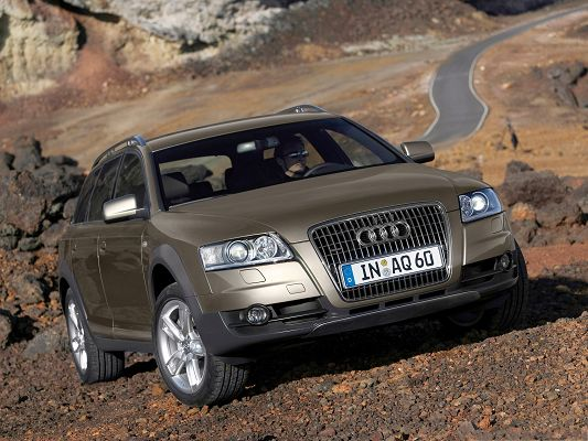 click to free download the wallpaper--Top Cars Wallpaper, Brown Audi A6 Allroad Among Natural Scene, Incredible Look