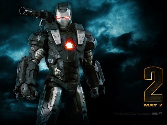 click to free download the wallpaper--Top Free Movie Post, Iron Man 2 as the War Machine