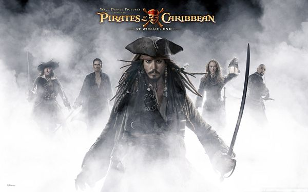 click to free download the wallpaper--Top Movies Poster, Pirates Of The Caribbean, Johnny Depp as the Great Leader
