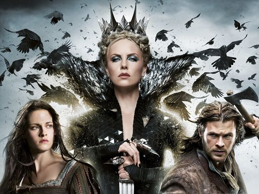 click to free download the wallpaper--Top Movies Poster, Snow White and the Huntsman, Evil Queen
