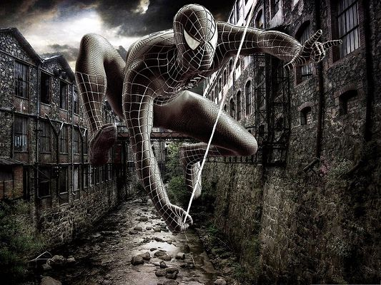 click to free download the wallpaper--Top Movies Wallpaper, The Amazing Spider Man, Hang on a String