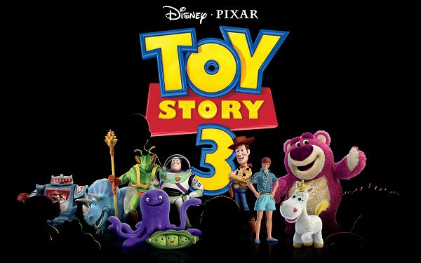 Toy Story 3 Post 2010 in 1920x1200 Pixel, All Characters Have Shown Up, Black Background Fits Quite Well - TV & Movies Post