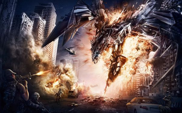 click to free download the wallpaper--Transformers 4 HD & Widescreen Wallpaper, Exploding Things, Destructive Conquence, Can Anyone Get Megatron Disappear, 1920x1200 Pixel - TV & Movies Wallpaper