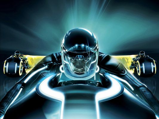 click to free download the wallpaper--Tron Legacy Movie Post in Pixel of 1600x1200, Man's Eyes Wide Open, He is Attentive, is Just Hard to Believe - TV & Movies Post