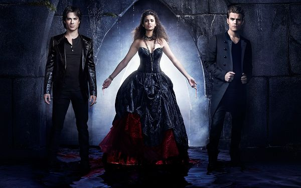 click to free download the wallpaper--Vampire Diaries Season 4 Wallpaper in 1920x1200 Pixel, the Three Are in Quite Weird Relationship, When Will This Come to an End? - TV & Movies Wallpaper