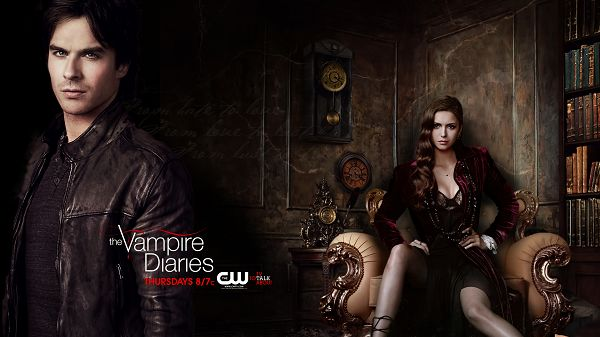click to free download the wallpaper--Vampire Diaries Season 4 in 1920x1080 Pixel, Nina and Ian Are Together, So It is With Real Life, When Will You Get Married? - TV & Movies Wallpaper
