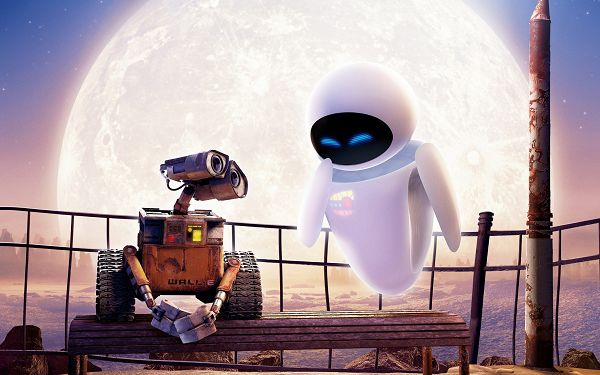 click to free download the wallpaper--WALL E and Eve Post in 2560x1600 Pixel, the Two Are Meant for Each Other, Silence Can be the Best Language - TV & Movies Post