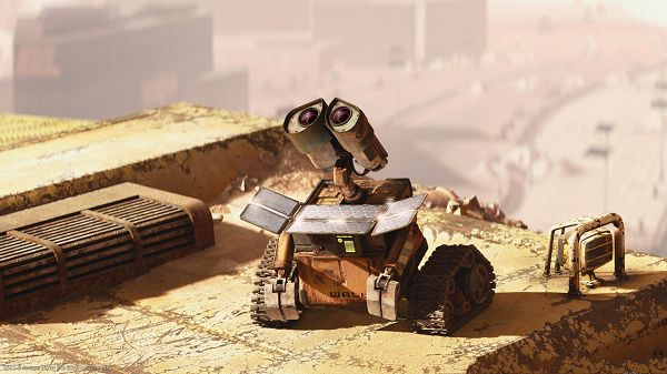 click to free download the wallpaper--Wall E HD 1080p Post in 1910x1080 Pixel, Wall E is in the Wait for Someone, Eva, You Should be Back Quickly, This is a Good Guy - TV & Movies Post