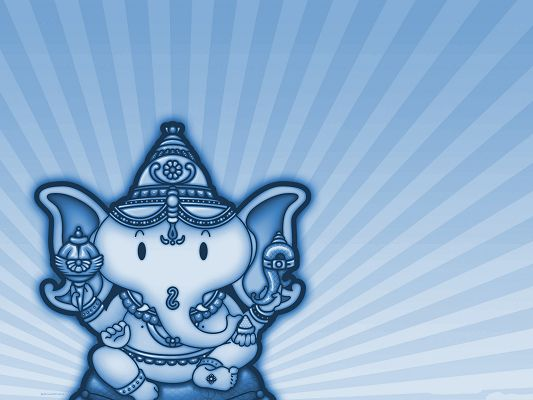 Wallpaper Desktop Computer - Hinduism Ganesha, Make a Wish to It!