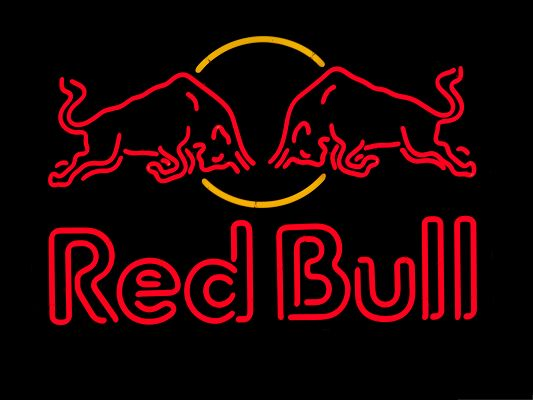 click to free download the wallpaper--Wallpaper Desktop Computer - Red Bulls Meeting Each Other, Head Facing Head