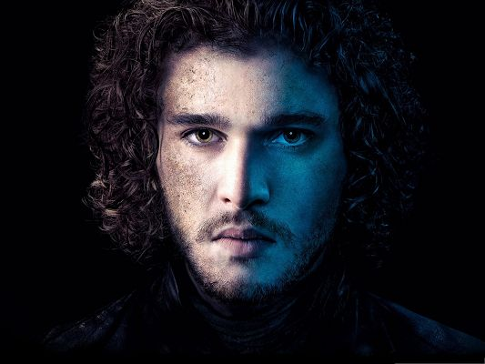 click to free download the wallpaper--Wallpaper Free Computer - John Snow Looking Straight, His Beloved One