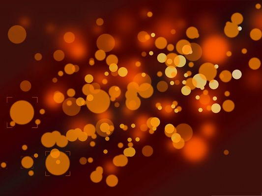 click to free download the wallpaper--Wallpaper Free Computer, Orange Spots in Different Sizes, Fit for Multiple Devices