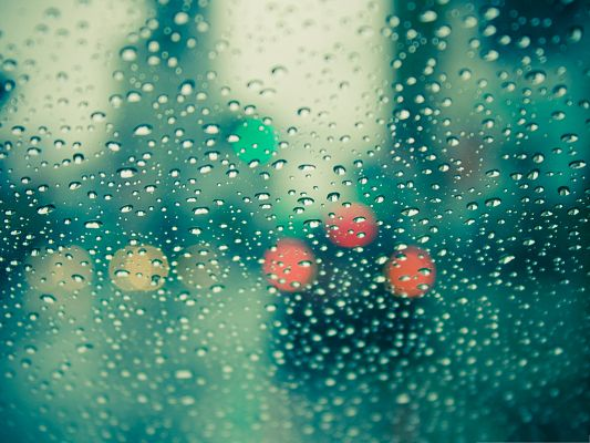 click to free download the wallpaper--Wallpaper for Widescreen, Wet Windscreen, Raindrops All Over
