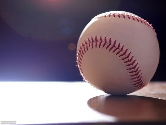 click to free download the wallpaper--Wallpapers and Backgrounds, Baseball Under Spotlight