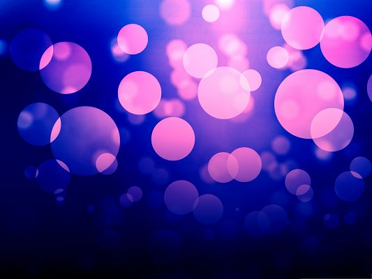click to free download the wallpaper--Wallpapers for Computer Free, Purple Bokeh on Blue Background, Romantic Scenery