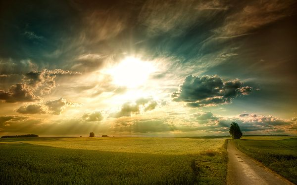 Warm and Bright Sunlight is Bursting Out from Thick Clouds, Nature is Powerful, Dark Times Always Give Way to Sunlight - HD Natural Scenery Wallpaper