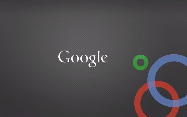 White Google and Three Colorful Circles, Background is Grey, Clean and Simple Style, Will Surely Strike an Impression - HD Google Wallpaper