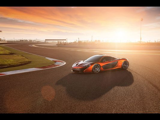 click to free download the wallpaper--World-Known Super Car Images of McLaren P1, from Static Side Angle, It is Indeed a Decent Car