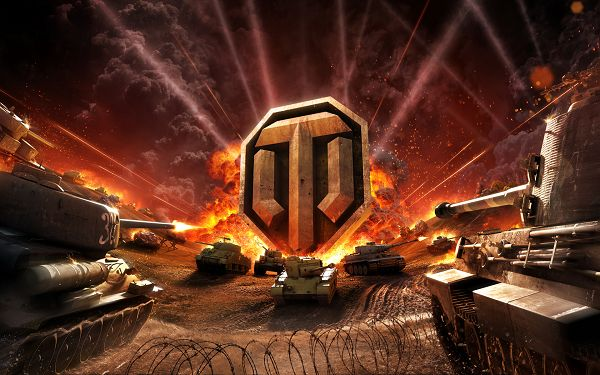 click to free download the wallpaper--World of Tanks Online HD Post in Pixel of 1920x1200, Tanks Are Everywhere, Making Explosion and Fire, War is Indeed Cold and Severe - TV & Movies Post