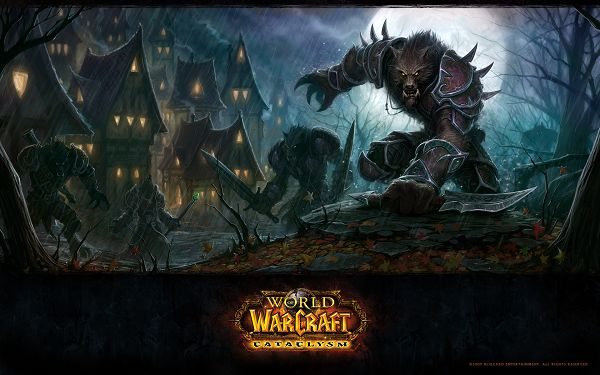 World of Warcraft Cataclysm Game Post in Pixel of 1920x1200, Big and Tough Monsters Fighting on a Rainy Day, Defending Your Homeland? - TV & Movies Post
