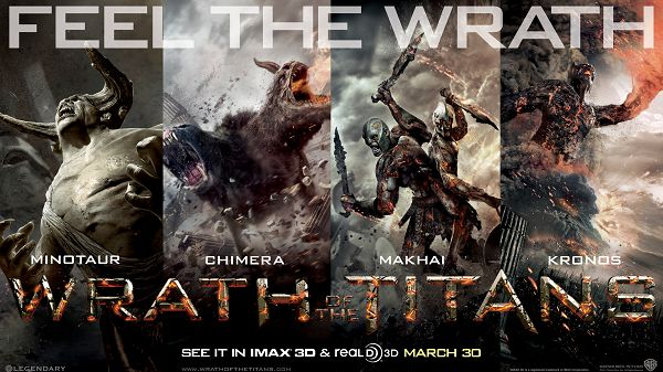 Wrath of the Titans 2012 in 2560x1440 Pixel, All Screaming Characters, Shall Fit and Work Well for Various Devices - TV & Movies Wallpaper