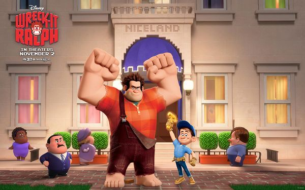 click to free download the wallpaper--Wreck It Ralph in 1920x1200 Pixel, Big Man is Like Body Building Exerciser, He is Strong and Setting a Great Example - TV & Movies Wallpaper