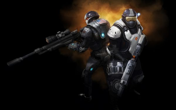 click to free download the wallpaper--XCOM Enemy Unknown HD Post in Pixel of 2560x1600, Two Robots with Guns, They Must be Good Shooters, Stay Away from Them - TV & Movies Post