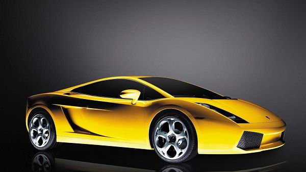 Yellow Lamborghini Car in Stop, Looking Decent and Graceful, Will Add Such Atmosphere on Application - HD Cars Wallpaper