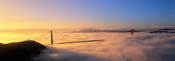 beautiful pictures of nature - A Bridge Across the River, Clouds Seem Misty and Smokey, is Totally Amazing