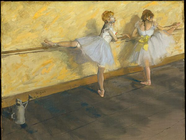 beautiful wallpaper: a painting of two ballerinas   ,click to download