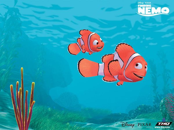 "cute wallpaper of a poster of ""Finding Nemo"" ,click to download"