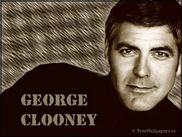 free wallpaper of actor - George Clooney ,click to download