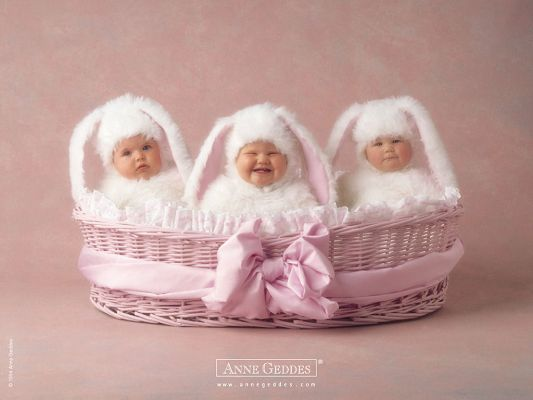 free wallpaper of babies-three Fairy Cute Babies,click to download