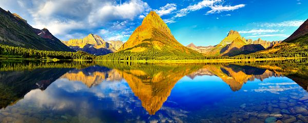 free wallpaper of beautiful scenery: wonderful Glacier National Park ,click to download