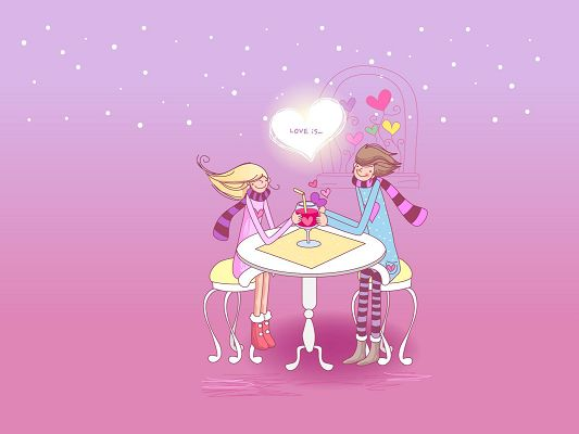 free wallpaper of love - a couple are drinking ,click to download