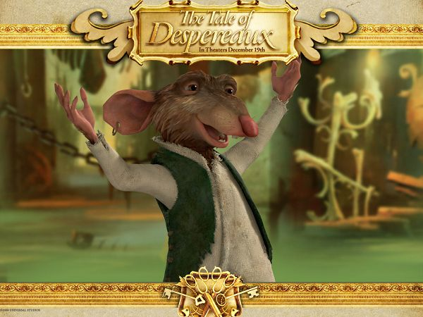 free wallpaper of movie poster: The tale of despereaux ,click to download