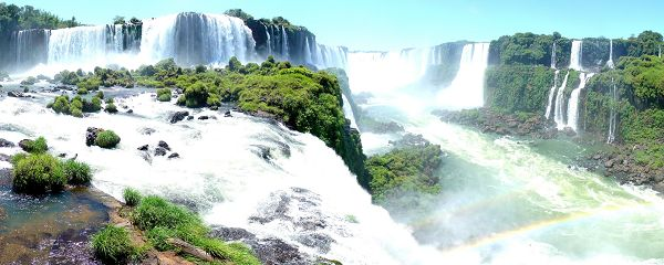free wallpaper of natural scenery: the widest falls - Iguacu Falls  ,click to download