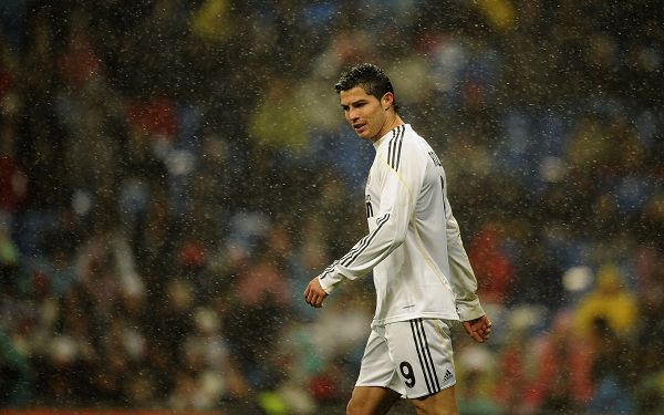 Free Wallpaper Of Sports Star: Cristiano Ronaldo On The Pitch