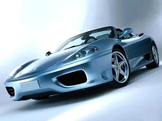 free wallpaper of the best car-a blue Ferrari ,click to download