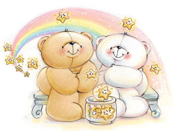 free wallpaper of two bears making a vow star ,click to download