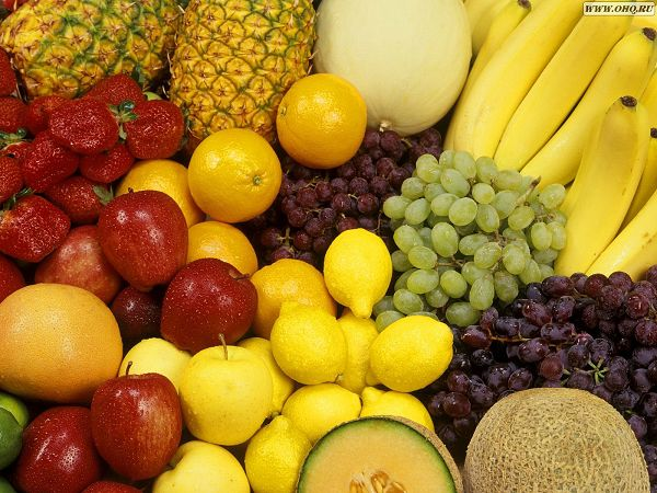 Free Wallpaper: Various Fruits